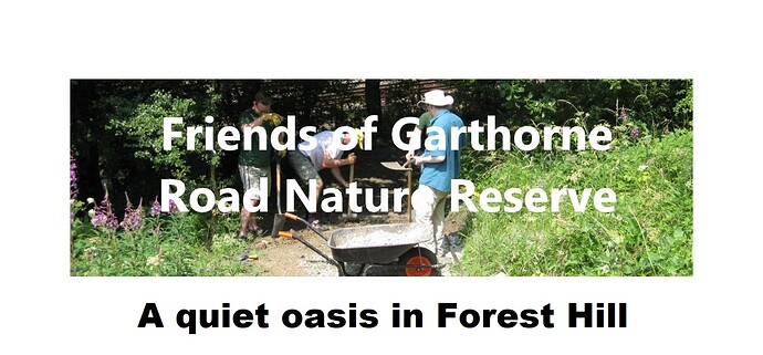 Friends of Garthorne Road Nature Reserve banner